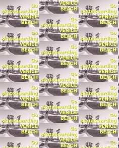 'Go Skateboarding Venice' design by Locan. To view & shop gear & apparel click on photo. Thank you.
