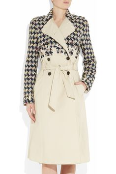 Erdem Kaija tweed and cotton trench