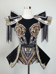 Price: US $299.88 / piece Free Shipping Fashion star female singer dj costume ds rivet one piece set High quanlity-inChinese Folk Dance from Apparel & Accessories on Aliexpress.com