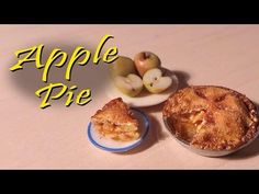 ▶ Miniature Apple Pie - Polymer Clay Tutorial - YouTube