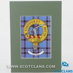 Elliot Clan Crest Mounted Print