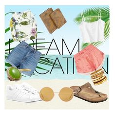 """#PolyPresents: Dream Vacation"" by monimaus on Polyvore featuring Paloma Blue, Marc by Marc Jacobs, Glamorous, adidas Originals, Birkenstock, Ashley Pittman, David Yurman, Patrizia Daliana, Acne Studios and Uma"