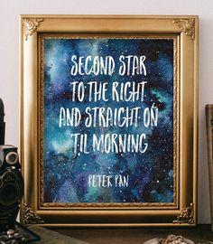 Nursery quotes Printable art Best Peter Pan by TwoBrushesDesigns