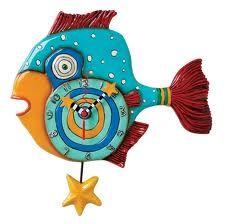 Mr. Fishy clock with a starfish pendulum.