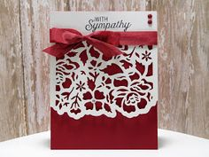 Peanuts and Peppers Papercrafting: Make It Monday - Stampin' Up! Detailed Floral Thinlits Sympathy Card