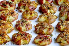 Smashed Red Potatoes Recipe with Picture - LoveThatFood.com