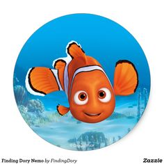 Shop Finding Dory Nemo Classic Round Sticker created by FindingDory. Personalize it with photos & text or purchase as is! Finding Dory, Cat Treats, Cute Disney, Disney Drawings, Round Stickers, Fantasy, Kawaii Anime, Disney Pixar, Finding Nemo