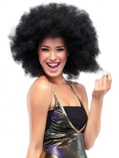 Fro by Jon Renau is from the Illusions Collection of costume wigs. -You'll be there like the Jackson 5, rockin' it like Hendrix or starting a disco inferno with this spring-coiled 17-inch afro wig. #fro #afro #jonrenau #wig #costume #halloween