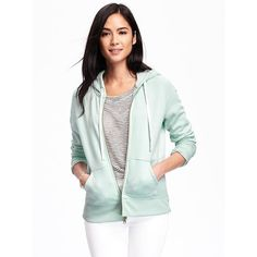 Old Navy Womens Relaxed Full Zip Fleece Hoodie ($24) ❤ liked on Polyvore featuring tops, hoodies, surfin usa, full-zip hooded sweatshirt, white top, white hoodies, fleece hooded sweatshirt and fitted hoodie