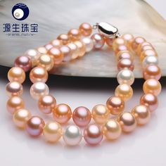 Aliexpress.com : Buy pearl jewelry 8  9mm white round small flaw freshwater pearl necklace for women YSN004 from Reliable necklace chic suppliers on pearls by yuansheng
