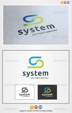 System S Letter - Logo Design Template Vector #logotype Download it here: http://graphicriver.net/item/system-s-letter-logo/3176656?s_rank=1673?ref=nesto