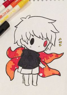 Anime Dibujos A Lapiz Tokyo Ghoul - Anime Kawaii Anime, Anime Chibi, Anime Art, Kaneki Chibi, Manga Tokyo Ghoul, Tokyo Ghoul Drawing, Tokyo Ghoul Fan Art, Kawaii Drawings, Cute Drawings