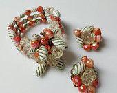 Hobe Wire wrap bracelet and Cluster Clip earrings