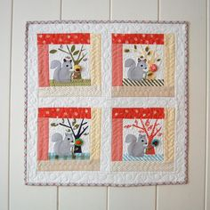"""Sewing nut"" quilt by Frances Newcomb. Free pattern for the Splendid Sampler Quilt along."