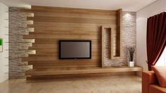 rustic living room with tv - Google Search