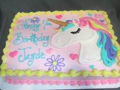 Best representation descriptions: Drawing Unicorn Cake Related searches: Tinkerbell Cake,Unicorn Rainbow Sheet Cake,Unicorn Sheet Cake with. Unicorne Cake, Cupcake Cakes, Birthday Sheet Cakes, Unicorn Birthday Parties, 5th Birthday, Cake Birthday, Birthday Ideas, Girl Cakes, Savoury Cake