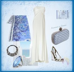 """""""Summer in Greece - 1"""" by legallyblonde-gr ❤ liked on Polyvore"""