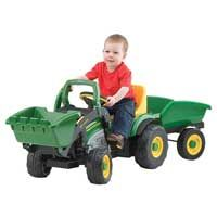 John Deere - Pedal-Powered Mini-Loader with Trailer Pedal Tractor, Pedal Cars, John Deere Lawn Mower, John Deere Tractors, John Deere Store, Zombie Couple Costume, John Deere Hats, Ride On Toys, Tricycle