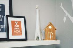 Grey and Tangerine Modern {Woodland Inspired} Nursery