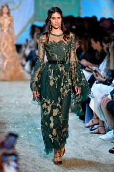 New Trending Celebrity Looks: sara-sampaio:  Sara Sampaio walks the runway during the Elie....  sara-sampaio:  Sara Sampaio walks the runway during the Elie Saab Couture F/W17 show during Haute Couture Paris Fashion Week on July 5, 2017 in Paris, France.