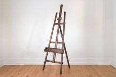 Vintage Anco Bilt Industrial Distressed Adjustable Wood Tripod Folding Easel