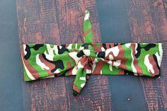Camo top knot headband baby headband knot by NorthMomCreations