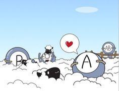 Among the sheep...