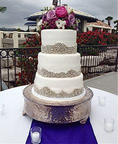 Silver dragee Wedding Cake