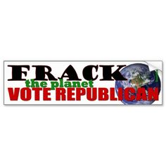 Frack the Planet Bumper Stickers