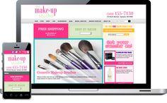 Is your website failing you? Design Spike blog: screenshot of the makeup studio website in spokane
