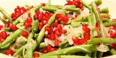 Salat med grønne bønner/salade with pomme granade and green beans