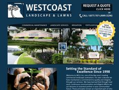 www.WestcoastLawns.com    Westcoast contacted us to create a lively browsing experience for their users showcasing their services and solutions while ranking high in the search engines. Another example of ProDeveloper ranking Flash sites in the Top 10 of Google.