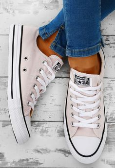 Chuck Taylor Converse All Star Nude Trainers cfb0edfc9
