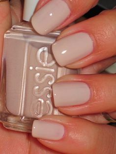 Essie nail polish in a beige colour - great coverage giving your nails a healthy look:)