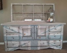 Beach inspired Union Jack dresser  Here's a cool one @Heather Creswell (Mitchell) Lawrence