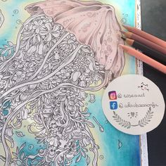 Wip @kerbyrosanes #prismacolor #water #sea #medusa #kerbyrosanes #imagimorphia #colorir #coloring #colorido #coloriage #inspiration #myartwork #colourpencil Follow me on Facebook : https://www.facebook.com/colorobsessionfr/
