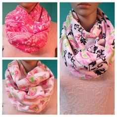 Items similar to Paisley infinity scarves super soft and plush, hot pink-white paisley and two varieties in white background w/ hot pink-lime green paisley on Etsy Pink White, Hot Pink, Paisley Scarves, Alexander Mcqueen Scarf, Infinity, Plush, Trending Outfits, Handmade Gifts, Etsy