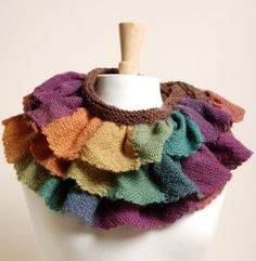 patterns, loom project, cowl scarv, ruffl squar, knit