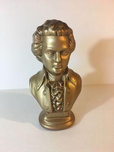 Vintage Arnels Mozart Portrait Figure Ceramic Gold Finish 1977   eBay