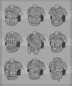 cool airsoft load out ideas Armor Concept, Concept Art, Design Reference, Drawing Reference, Character Concept, Character Art, Drawing Sketches, Drawings, Drawing Ideas