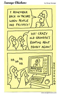 "Savage Chickens on ""privacy"" by Doug Savage"