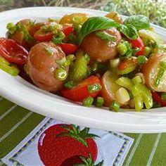 Mediterranean Potato Salad - Absolutely delicious & healthy recipe.    Allrecipes.com