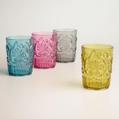 Available in green, aqua, gray and pink, our eye-catching tumblers have a textured and ornate design. >> #WorldMarket #OutdoorLiving #WorldMarketLove4Outdoors