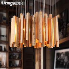 Ucuz tasarımcı sanat kişilik oturma odası lambaları lambaları restoran droplight sözleşmeli ahşap sanat avize, Satın Kalite kolye ışıkları doğrudan Çin Tedarikçilerden:
