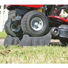 Strong, durable, and easy to useThese handy Riding Lawn Mower Ramps make changing the oil, blades and other routine maintenance on your riding lawn mower a breeze. Simply align the ramps with the front tires of your mower, drive up onto the ramp Lawn Mower Maintenance, Lawn Mower Repair, Lawn Mower Blades, Pergola Pictures, Riding Lawn Mowers, Outdoor Garden Furniture, Small Engine, Lawn And Garden, Herb Garden