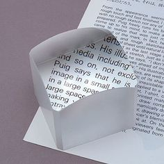 Magnifying cube // beautiful and functional inclusive universal #productdesign