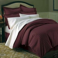 King Burgundy Down Alternative Bed in A Bag Egyptian cotton 600 Thread count . $179.99