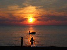 Sunset at Grand Bend, Ontario