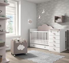 New Baby Bedroom Clouds Cribs Ideas Baby Boy Rooms, Baby Bedroom, Kids Bedroom, Girl Rooms, Baby Room Furniture, Baby Room Decor, Girl Cribs, Baby Cribs, Baby Beds