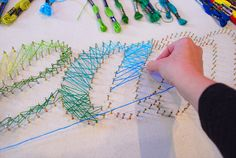 DIY String Art Tutorial. Words, monograms, single colour, multi colour - the options are endless.